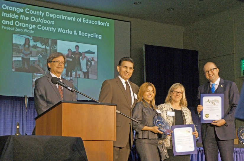Partnership between OCDE, OC Waste & Recycling wins top environmental award