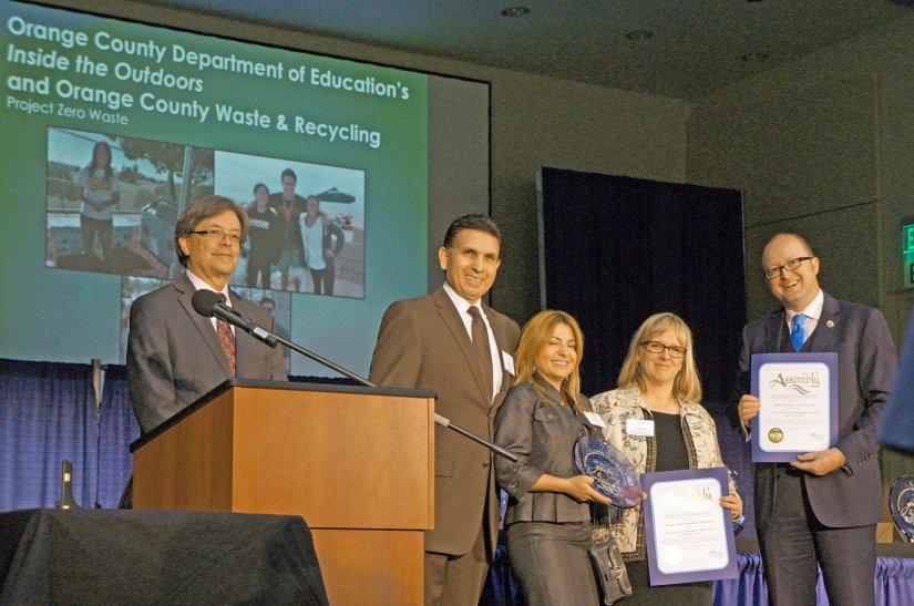 Partnership between OCDE, OC Waste & Recycling wins top environmentalaward