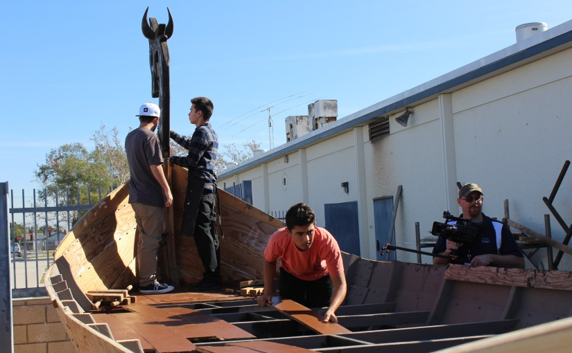 Marina High students tackle ultimate woodworking project with handcrafted viking ship (video)